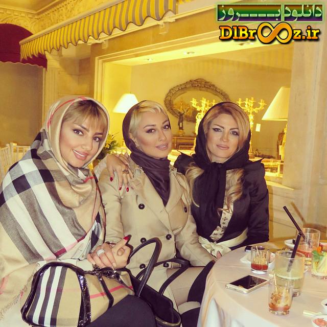 صدف طاهریان همراه دوستان