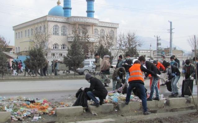 اعتراض کابلیها برای نظافت شهر