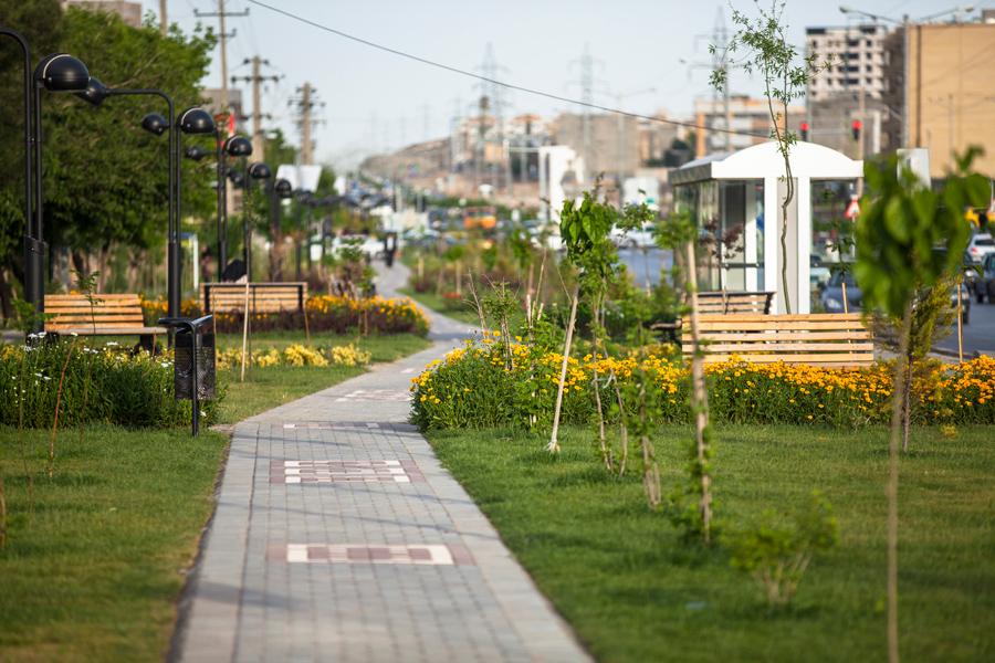 احداث پارک خطی با مساحت بیش از 12 هزار مترمربع در بلوار نماز