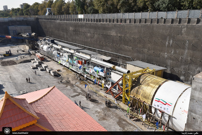 حفاری فاز دوم خط ۳ قطار شهری مشهد آغاز شد + گزارش تصویری