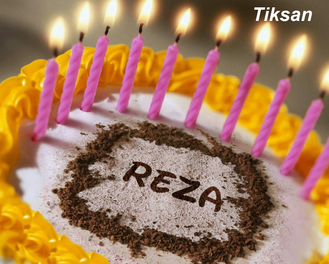 کیک تولد رضا