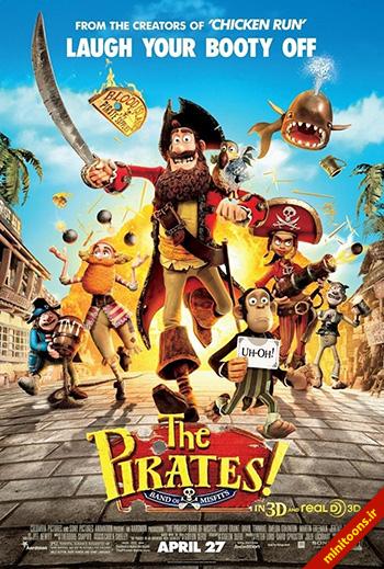 دانلود انیمیشن دزدان دریایی! نخالهها – The Pirates! Band of Misfits