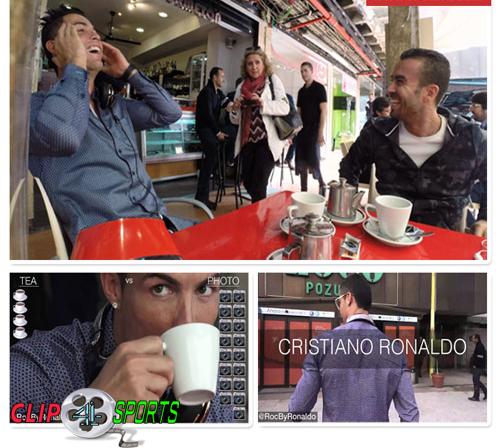 دانلود کلیپ یک روز به یاد ماندنی با کریستیانو رونالدو در کافه