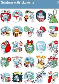 استیکر تلگرام Christmas with Jokukuma