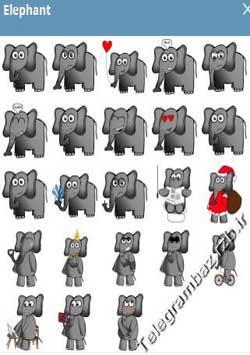 استیکر تلگرام Elephant