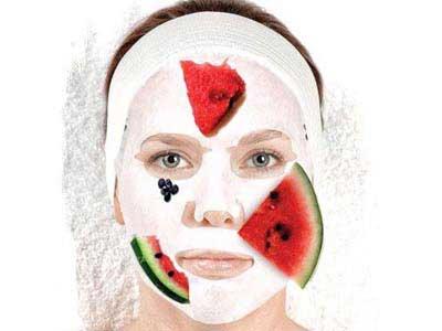 ماسک روشن کننده, ماسک پاک کننده صورت با هندوانه