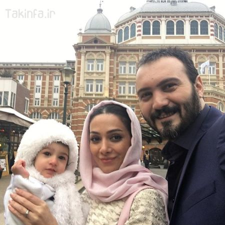 عکس جدید کامبیز دیرباز به همراه همسر و دخترش