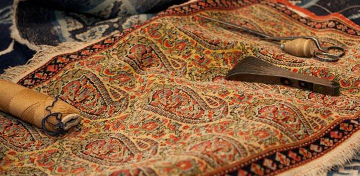 بافت فرش دستبافت با موضوع صلح جهانی در تبریز