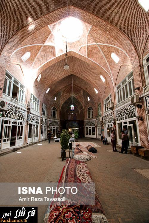 تصاویری زیبا از بازار فرش و تابلو فرش تبریز