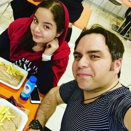 عکس شهرام قائدی و همسرش و دخترشان سارینا
