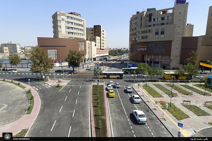 تصاویر هوایی بولوار مجد و خیابان پرستار پس از بازگشایی