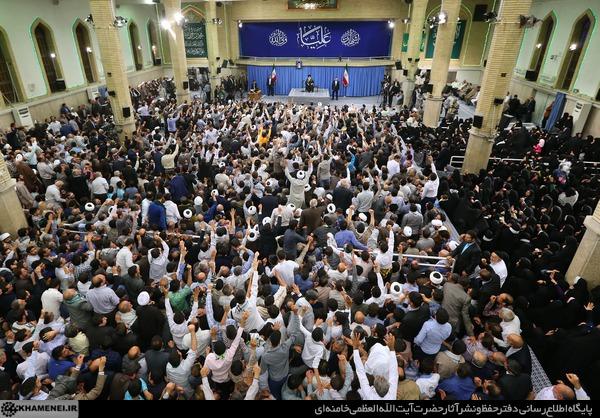 دیدار اقشار مختلف مردم با رهبر انقلاب به مناسبت عید غدیر