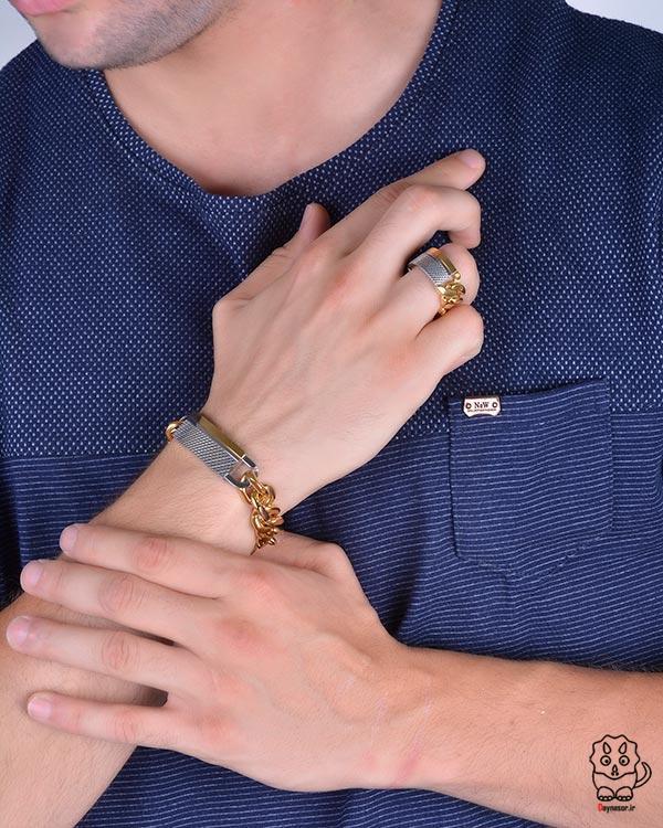 مدل دستبند و انگشتر مردانه