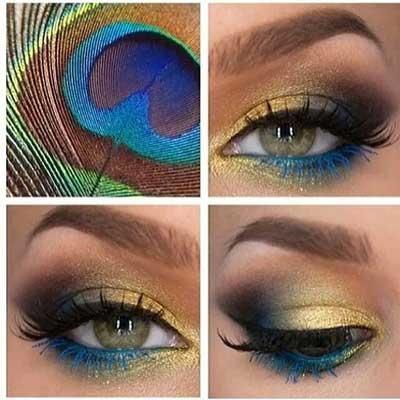 ژورنال جدیدترین مدل های هم آموزش و هم آرایش چشم پر طاووسی