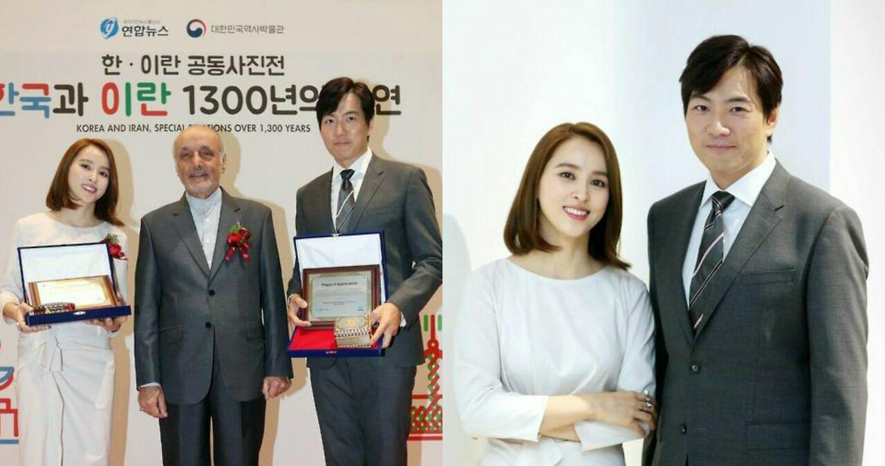 سونگ ایل گوک ( جومونگ) و هان هه جین (سوسانو ) عکسی با حسن طاهریان،