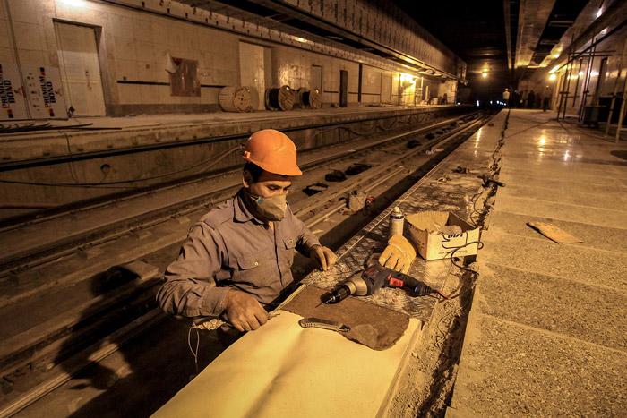 گزارش تصویری میزان پیشرفت ایستگاه های شمالی خط 2 مترو مشهد/شماره یک