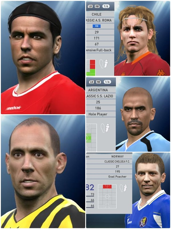 دانلود فیس پکClassic Face vol. 2 For PES2017 by petar