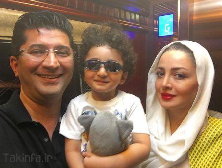 عکس شیلا خداداد و همسر و فرزندش