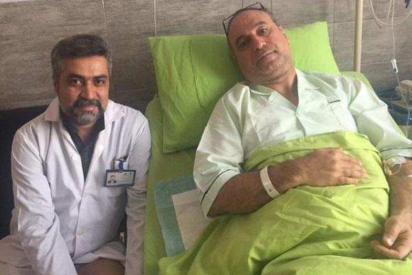 بازیگر سینما در بیمارستان بستری شد+عکس