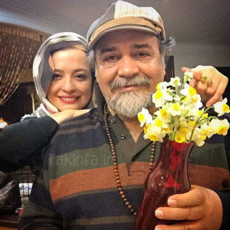 عکس مهراوه شریفی نیا و پدرش محمدرضا شریفی نیا