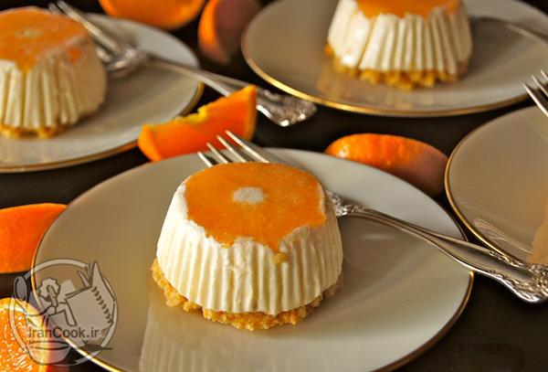 طرز تهیه چیز کیک نارنگی