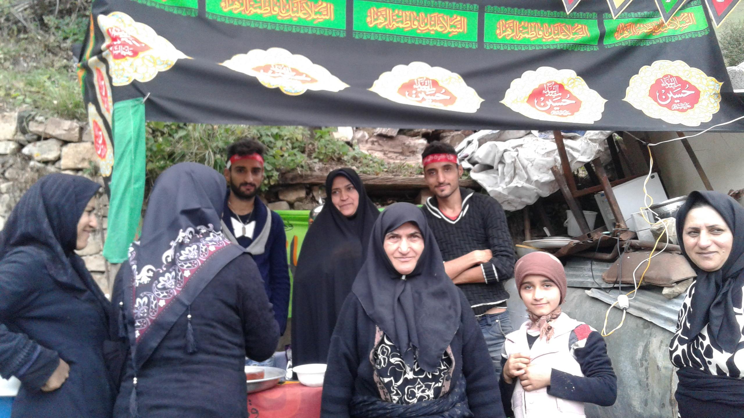 ایجاد استگاه صلواتی در ایام محرم سال۹۵ در روستای گلامره
