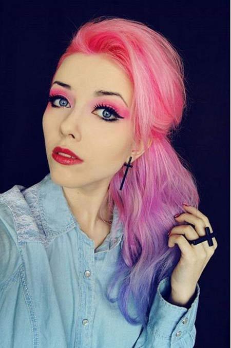 مدل های مو فانتزی دخترانه در رنگ های مختلف