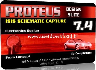 دانلود نرم افزار Proteus 7.4 Full نسخه قابل حمل
