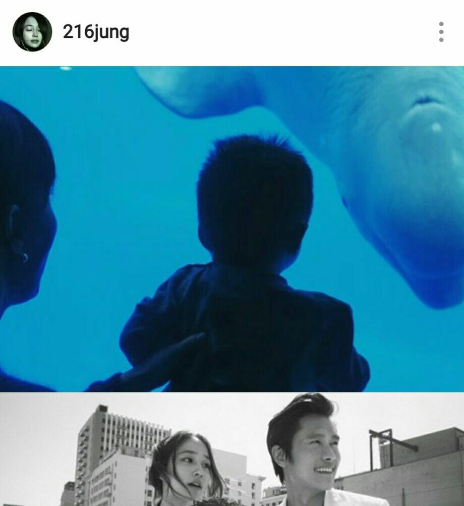  👶🏻لی مین جونگ بازیگر سریالهای(برگرد اجوشی/بیگ) و همسر لی بیونگ هان بالاخره عکسی رو از پسر چند ماهه اش در اینستاگرامش اپ کرد.