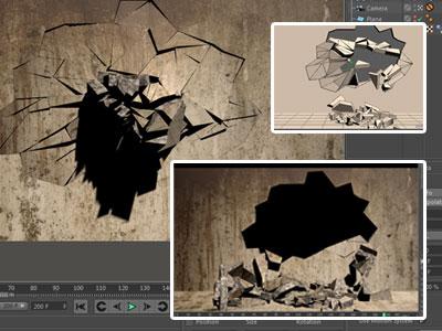 دانلود پروژه سینما فوردی ریزش دیوار به صورت داینامیک