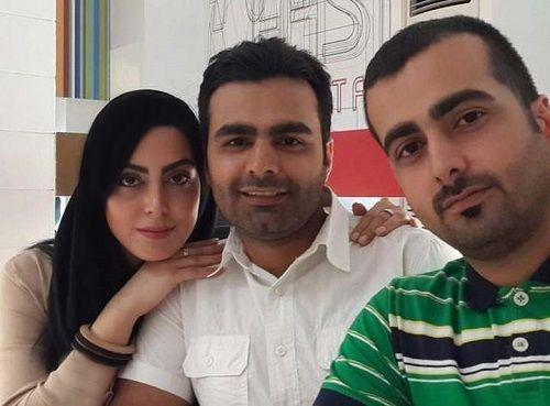 عکس نیلوفر شهیدی و برادرانش