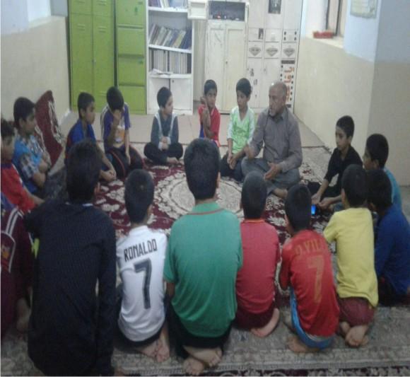 برگزاری کلاس های جوان های حلقه صالحین (شهید پراینده)