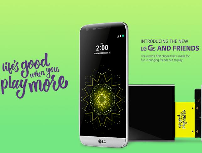 بررسی  LG G5