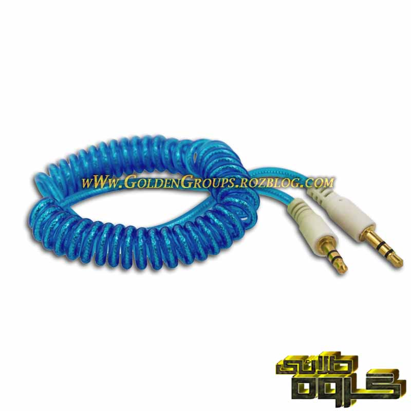 کابل AUX فنری سر پلاستیکی  - AUX cable springy plastic head