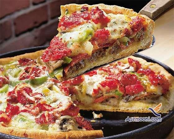 طرز تهیه  پیتزا خانگی بدون فر