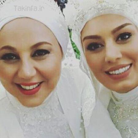 عکس بهنوش بختیاری و سحر قریشی با لباس عروس