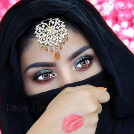 مدل آرایش چشم هندی عروس