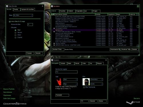 دانلود بک گراند Black & Green GUI برای کانتر