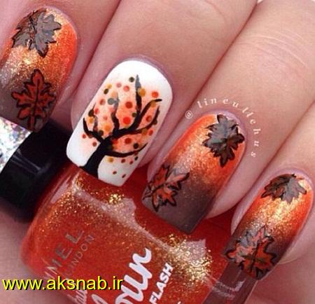 لاک ناخن پاییزی