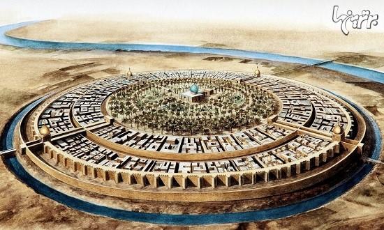 نقشه دایره ای شهر بغداد