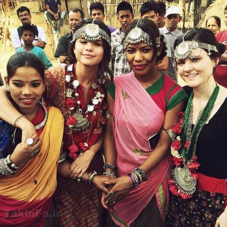سلنا گومز در هند,سلنا گومز با لباس هندی,عکس سلنا گومز هندی