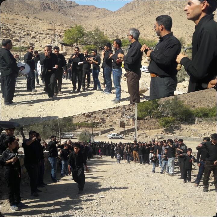 هیئت روستا در ظهر عاشورا از لحضه ورود به روستای زرجوع تا لحظه خارج شدن از آن/فیلم