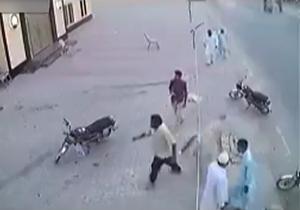 مرگ دو برادر موتورسوار در اثر تصادف + فیلم