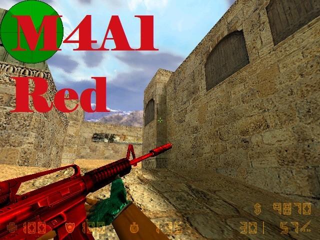 دانلود اسکین M4A1 Red برای کانتر 1.6