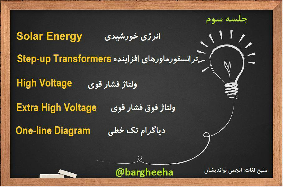 آموزش لغات انگلیسی برق و اتوماسیون جلسه سوم