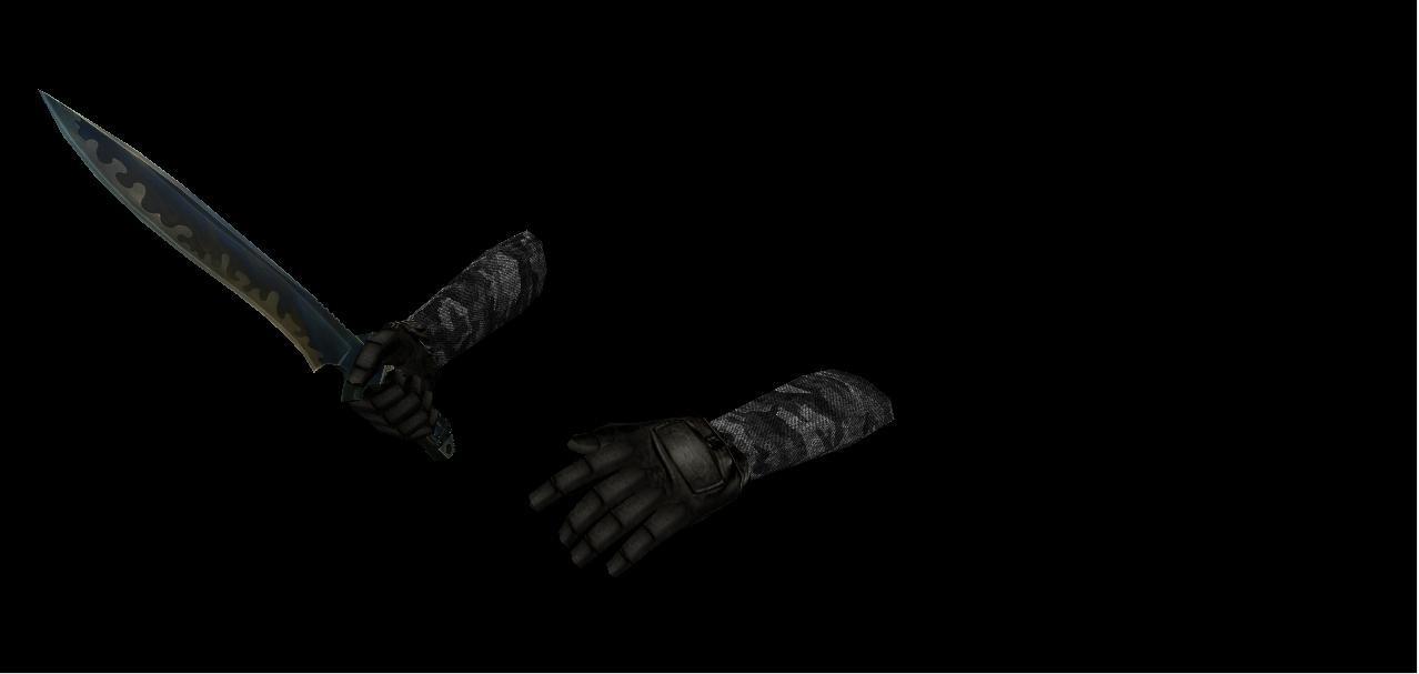 دانلود اسکین دست کش Dark Urban Camo برای کانتر استریک 1.6