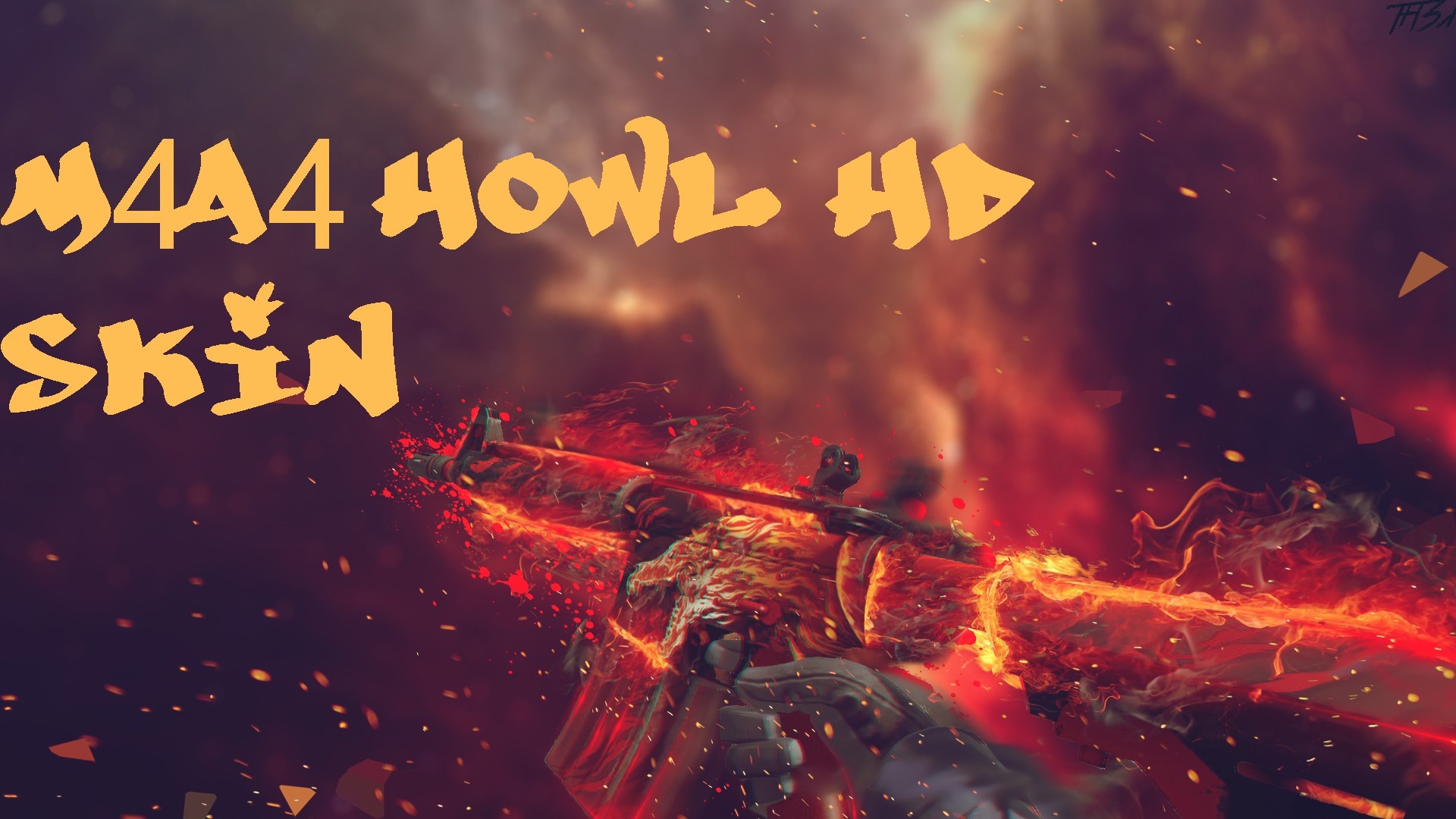 دانلود اسکین ان فور اچ دی M4A4 Howl HD برای کانتر استریک 1.6