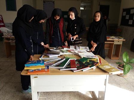 برگزاری نمایشگاه کتاب در واحد بسیج دانش آموزی سما