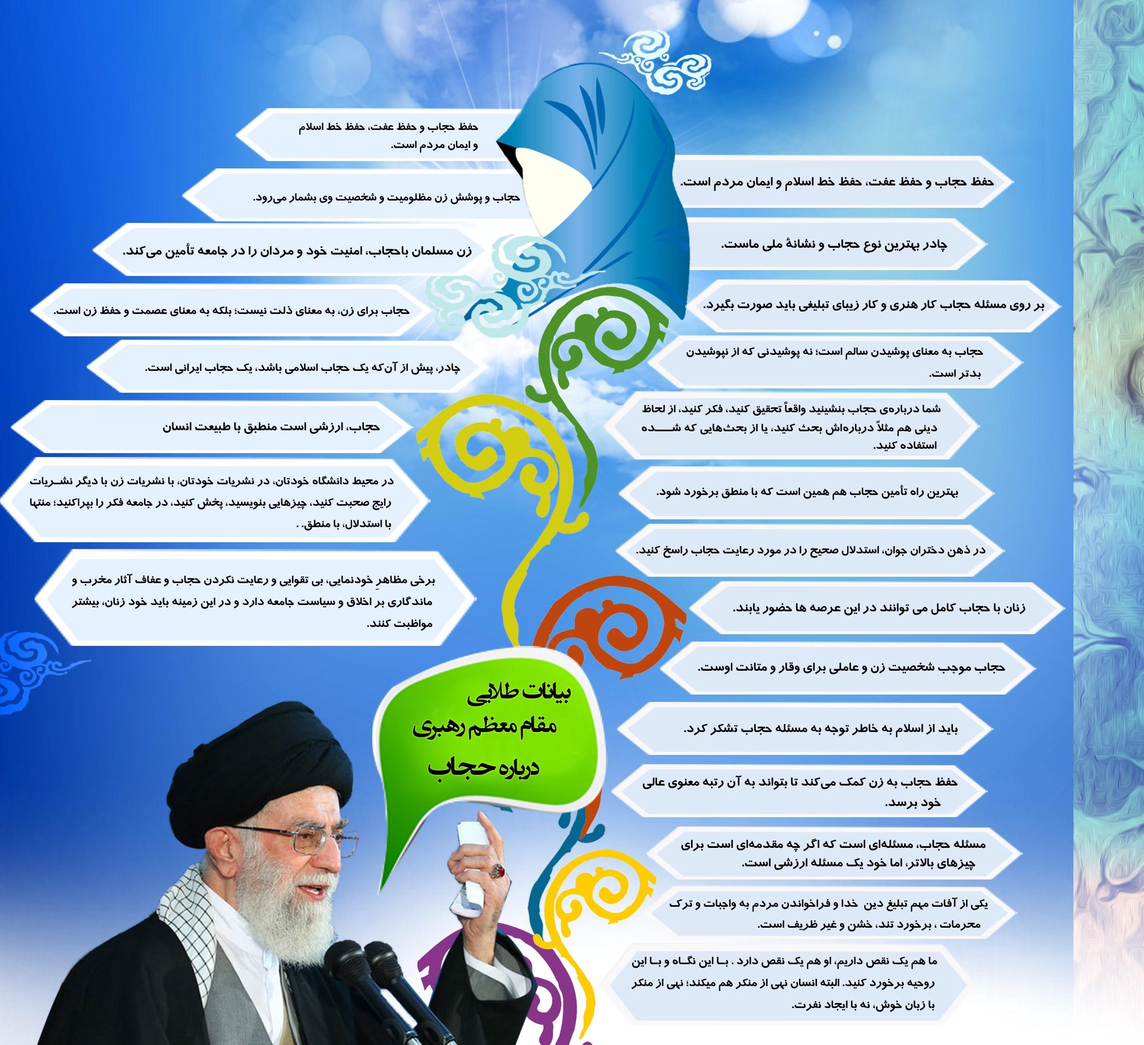 اینوگرافی سخنان رهبری درباره حجاب