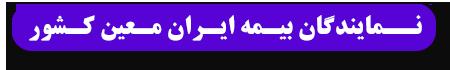نمایندگان بیمه ایران معین کشور